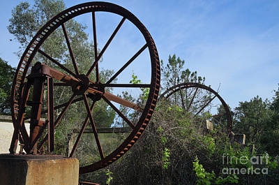 Abandoned Water Extraction Wheel Mechanism Print by Angelo DeVal