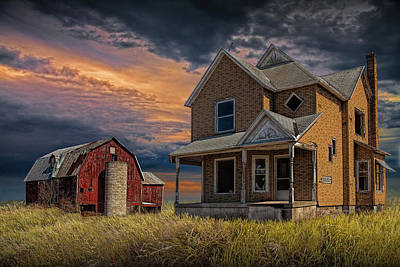 Abandoned West Michigan Farm Print by Randall Nyhof