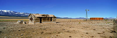 Old West .america Photograph - Abandoned Wooden Building, Route 50 by Panoramic Images
