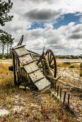 Cartwheel Photograph - Abandoned Wooden Cart II by Marco Oliveira