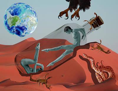 Boa Constrictor Mixed Media - Abandonment by Solomon Barroa