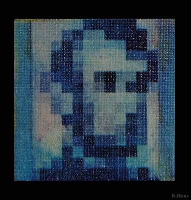 Abe In Light Blue Original by Rob Hans