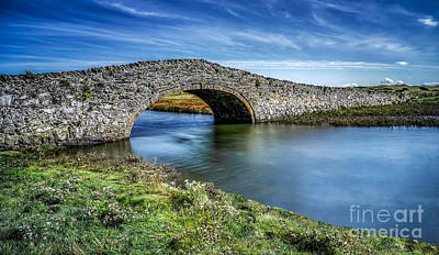 Ancient Architecture Print featuring the photograph Aberffraw Bridge by Adrian Evans