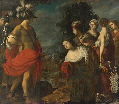Abigail Painting - Abigail Before David by Francesco Furini