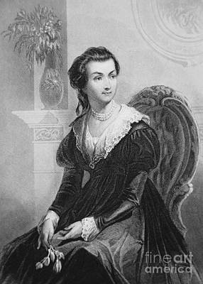 First-lady Drawing - Abigail Smith Adams by American School