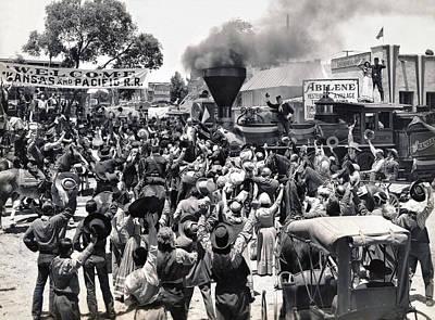 Abilene Movie Scene Print by Underwood Archives