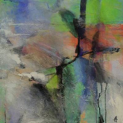 Painting - About Time Abstract Painting by Chris Hobel