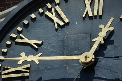 Clock Photograph - About Time by Eric Workman