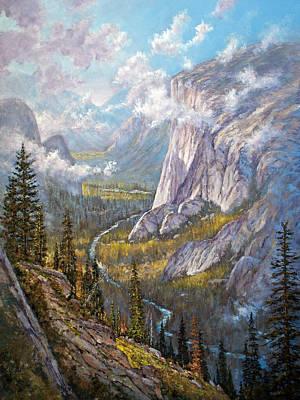 El Capitan Painting - Above El Capitan by Donald Neff