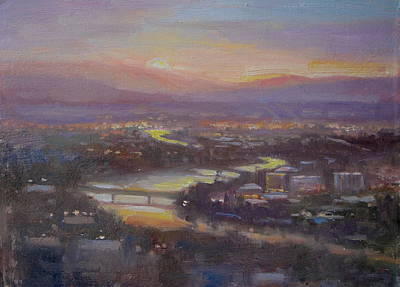 Painting - Above Missoula by Lori  McNee