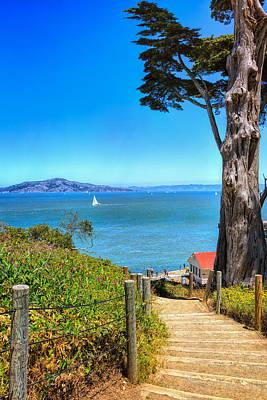 Presidio Park Photograph - Above San Francisco Bay by John M Bailey