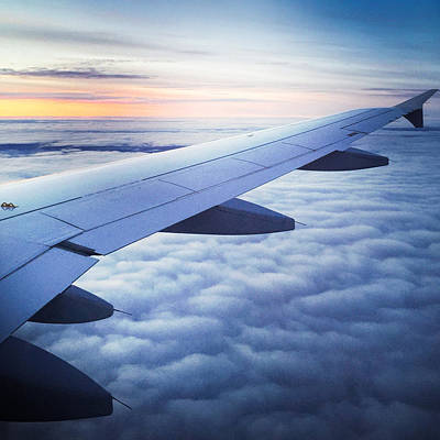 Airplane Photograph - Above The Clouds 01 by Matthias Hauser