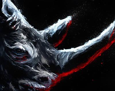 White Rhino Painting - Abrade by Danielle Trudeau