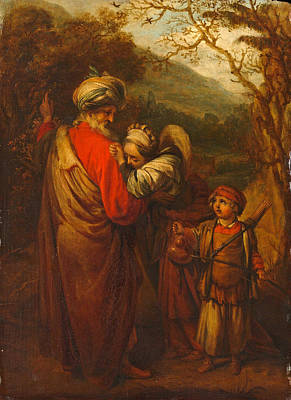 Painting - Abraham Dismissing Hagar And Ishmael by Barent Fabritius