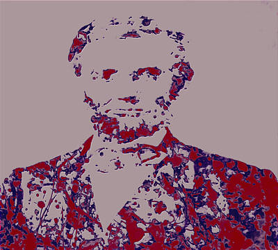 George Bush Mixed Media - Abraham Lincoln 4c by Brian Reaves