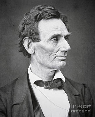 Figures Photograph - Abraham Lincoln by Alexander Hesler