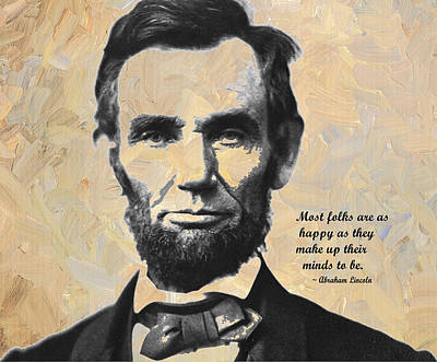 President Lincoln Digital Art - Abraham Lincoln And Quote by Linda Mears