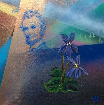 Painting - Abraham Lincoln Birth Chart by Andrea LaHue