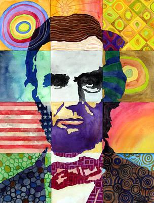 Abraham Lincoln Portrait Study Print by Hailey E Herrera