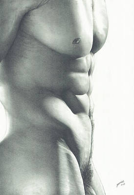 Art Nude Drawing - Abs-olutely by Maciel Cantelmo