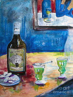 Absinthe Painting - Absinthe For Two by Ginette Callaway