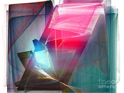 Abstract - Crystal Bar Print by Ganesh Barad