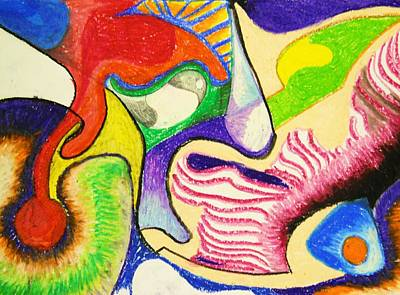 Drawing - Abstract 1 by Jame Hayes