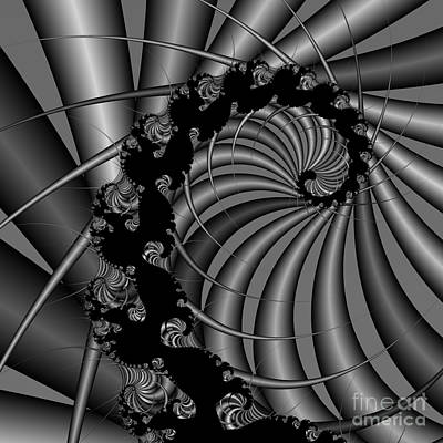 Abstract 112 Bw Print by Rolf Bertram
