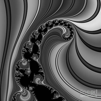 Abstract 121 Bw Print by Rolf Bertram