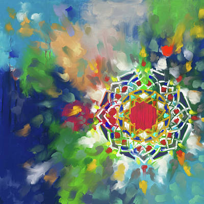 Celtic Art Painting - Abstract 426.1 by Mawra Tahreem