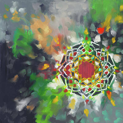 Celtic Art Painting - Abstract 426.2 by Mawra Tahreem