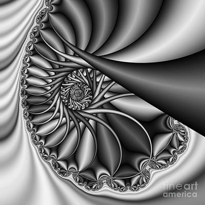 Abstract 530 Bw Print by Rolf Bertram