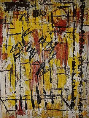 Basketball Abstract Mixed Media - Abstract 9 by Cara Jean Brown