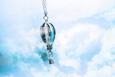 Jewellery Photograph - Abstract Air Baloon Hanging On Chain by Jorgo Photography - Wall Art Gallery