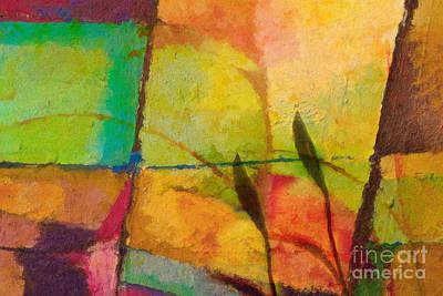 Colorfields Painting - Abstract Art Primavera by Lutz Baar