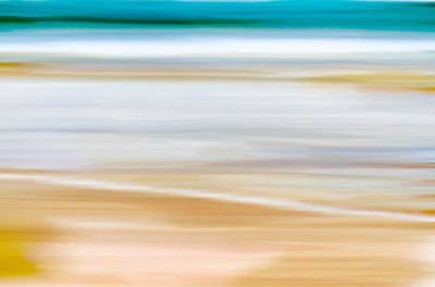 Summery Painting - Abstract Beachscape by Frank Tschakert