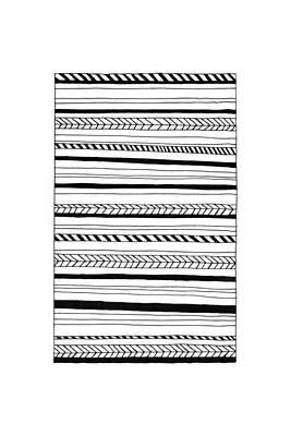 Abstract Black Lines Pattern Print by Konstantin Sevostyanov