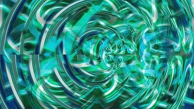 Abstract Digital Art - Abstract Brutality The Vortex by Marco De Mooy