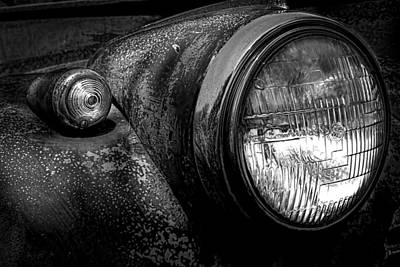 Industrial Photograph - Abstract Cars Headlights Special Deluxe by Bob Orsillo