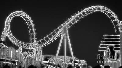 Rollercoaster Photograph - Abstract Coaster by Tom Gari Gallery-Three-Photography