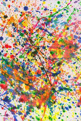 Abstract - Crayon - Mardi Gras Print by Mike Savad