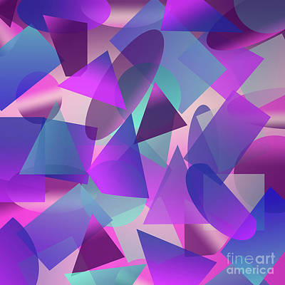 All-overs Digital Art - Abstract Cube II by Amir Faysal