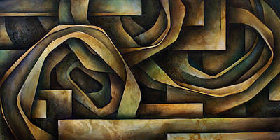 Earth Tones Painting - Abstract Design 10 by Michael Lang