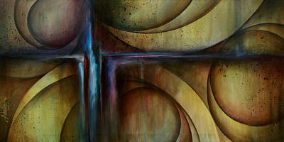 Earth Tones Painting - Abstract Design 26 by Michael Lang