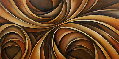 Earth Tones Painting - Abstract Design 43 by Michael Lang