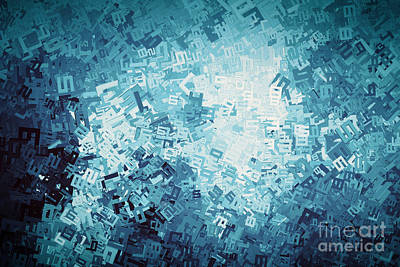 Digital Photograph - Abstract Digits And Numbers Background by Michal Bednarek
