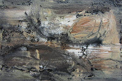 Earth Tones Painting - Abstract Earthy Texture  by Anita Burgermeister