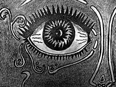 Abstract Drawing - Abstract Eye by Kathleen Sartoris