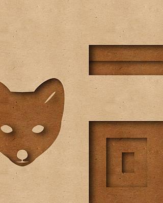 Fox Digital Art - Abstract F by Vanessa Bates