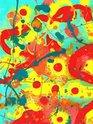 Abstract Floral Fantasy Panel A Original by Amy Vangsgard